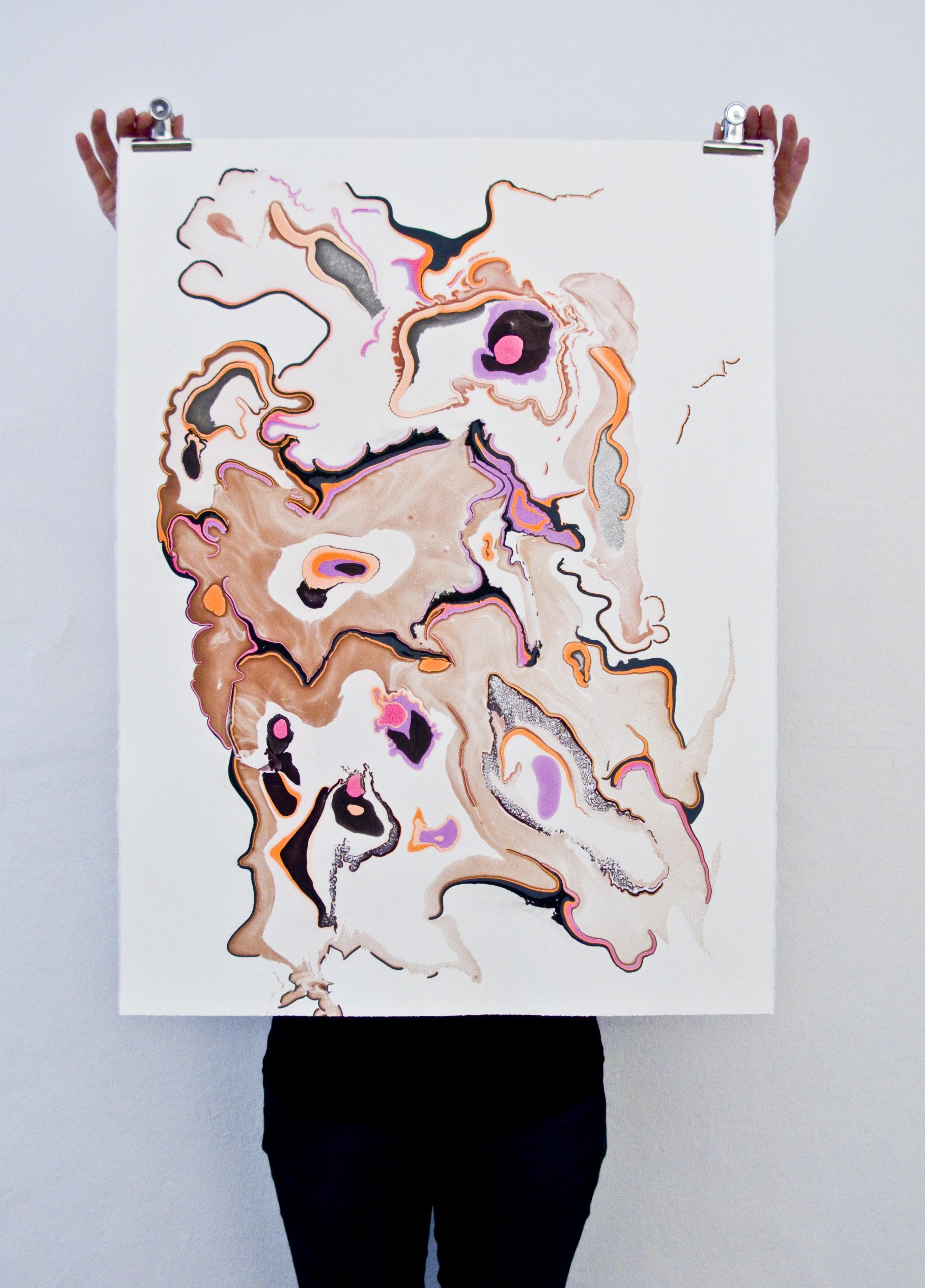 Snedker Studio: marbling u2014 textile and terrain